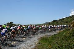 Cycle race. FBD Insurance Ras 2009. 20 May 2009 Inch Dingle peninsula County Kerry Ireland. Cycle race Royalty Free Stock Photos