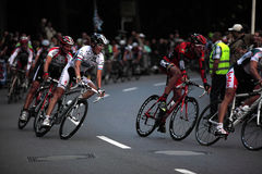 Cycle-race with Andy Schleck. On the 29.Jule 2010 a cycle race with the brothers Schleck and a lot of the best cycle drivers of the world Stock Photo