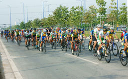 Cycle race, Asia sport activity, Vietnamese rider Stock Image