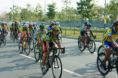 Cycle race, Asia sport activity, Vietnamese rider Royalty Free Stock Photography