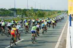 Cycle race, Asia sport activity, Vietnamese rider Royalty Free Stock Image