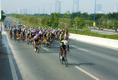 Cycle race, Asia sport activity, Vietnamese rider Stock Photo