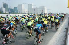 Cycle race, Asia sport activity, Vietnamese rider Stock Photos