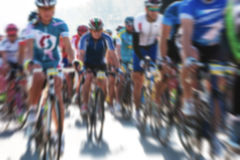 Cycle race. Blurred image. Cycle race - peleton. Blurred image Royalty Free Stock Photo