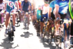 Cycle race. Blurred image Royalty Free Stock Photo