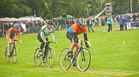 Cycle race at Forres Highland Games Stock Photo