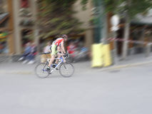 Cycle Race in Jasper Canada Royalty Free Stock Images