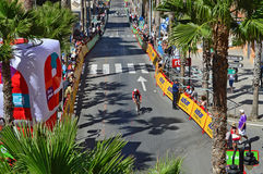Cycle Race 2016 La Vuelta España Time trial TT Course Royalty Free Stock Images