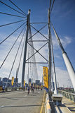 Cycle Race - Mandela Bridge Section Royalty Free Stock Image