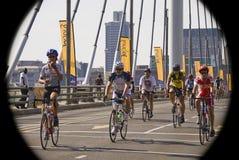 Cycle Race - Mandela Bridge Section Stock Photography