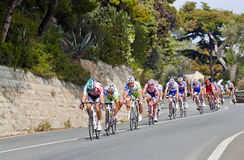 Cycle race from Milano to San Remo Stock Photos