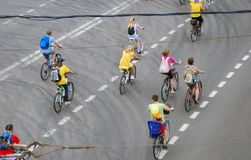 Cycle race in Moscow Stock Photos