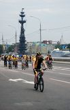 Cycle race in Moscow Stock Image