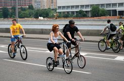 Cycle race in Moscow Stock Photo