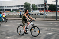 Cycle race in Moscow Royalty Free Stock Photos