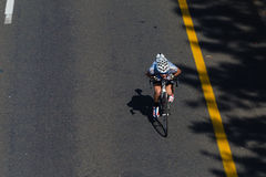 Cycle Race Single Leader Stock Photography