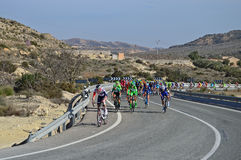 Cycle Race. The teams head up the mountain during stage 4 of the 2016 Vuelta Valencia cycle race in Spain Stock Photos