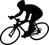 Cycle Racing Silhouette Royalty Free Stock Photos