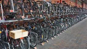 Cycle rack at Marylebone Station Royalty Free Stock Photos