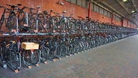 Cycle rack at Marylebone Station Stock Image