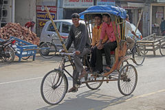 Cycle rickshaw. A cycle rickshaw. dibrugarh assam, india Royalty Free Stock Photos