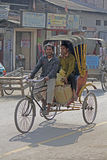 A cycle rickshaw. Dibrugarh assam, india Stock Image