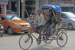 A cycle rickshaw Royalty Free Stock Images