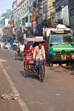 Cycle rickshaw driver Stock Photography