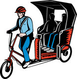 Cycle Rickshaw driver passenger Royalty Free Stock Image
