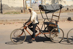 Cycle rickshaw. India. Stock Photo