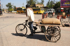 Cycle rickshaw. India. Stock Photography