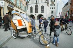 Cycle rickshaw in Munich Stock Photography