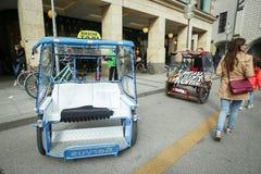 Cycle rickshaw in Munich Royalty Free Stock Photos