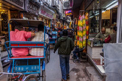 Cycle rickshaw in Old Delhi Stock Photo