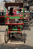 Cycle rickshaw. Old Delhi, India. Stock Image