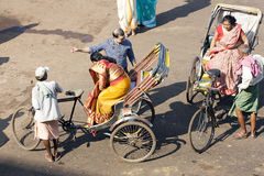 Cycle rickshaw in Puri Royalty Free Stock Photography