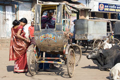 Cycle rickshaw in Puri Royalty Free Stock Image