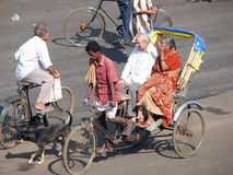Cycle rickshaw in Puri Stock Images
