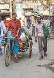 Cycle rickshaws in the streets of Delhi Royalty Free Stock Images