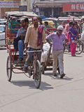 Cycle Ride in Old Delhi Royalty Free Stock Photos