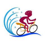 Cycle rider royalty free illustration