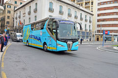 Cycle Road Racing Astana Team Bus Stock Image