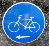 Cycle. Road sign Stock Image