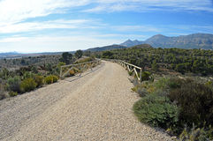 A Cycle Route Through The Hills - Dirt Track Royalty Free Stock Photos