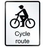 Cycle route Information Sign Royalty Free Stock Images