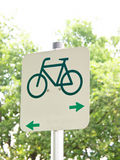 Cycle route sign 6 stock images