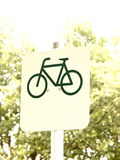 Cycle route sign (8) royalty free stock photography