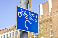 Cycle route Stock Images