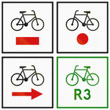 Cycle Routes In Poland Royalty Free Stock Photos