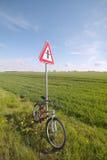 Cycle at sign. Royalty Free Stock Photo